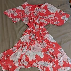 NWT Pink Floral Lane Bryant Maxi Dress